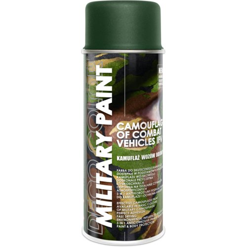 Farba do kamuflażu  Military Paint Ral 6031 forest green 0,4 l DECO COLOR