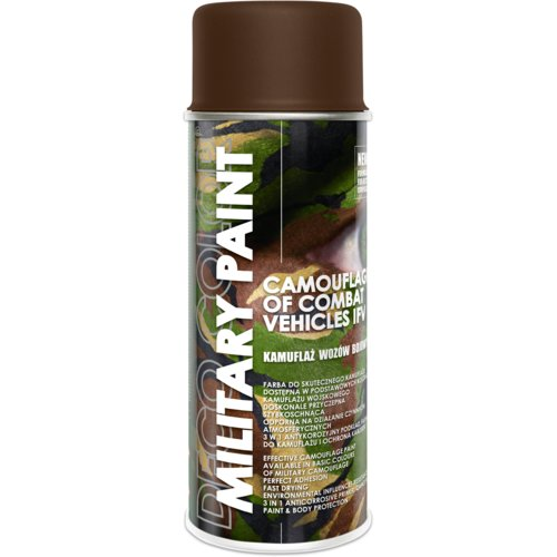 Farba do kamuflażu  Military Paint Ral 8027 mud brown 0,4 l DECO COLOR